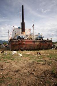 Stranded power generator vessel, Banda Aceh