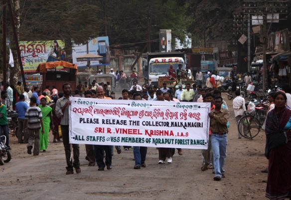 Demonstrators in Koraput