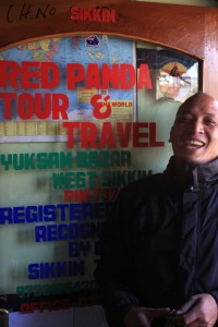Red Panda in his office in Yuksom