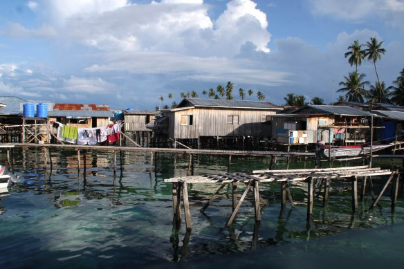 Stilt houses on Mabul island