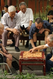 Playing Xiangqi, Wenshu Temple, Chengdu, Sichuan