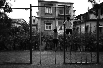 Colonial houses and playground, Gulang Yu, Fujian