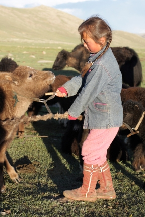 Nomad girl, Naiman Nuur, Central Mongolia