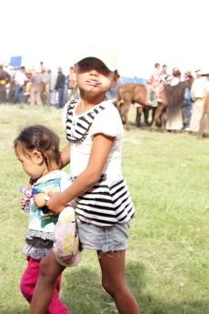 Children at the Naadam celebrations, Chandmani