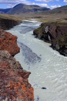 Tsagaan Gol - white river - Altai Tavan Bogd National Park