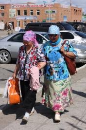 Women in Olgii, West Mongolia