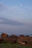 Moon set in Batshireet, East Mongolia