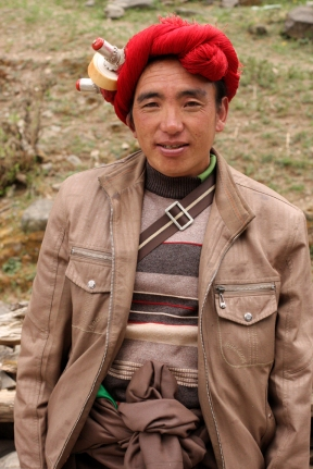 Fellow passenger en route from Litang to Ganzi, Sichuan